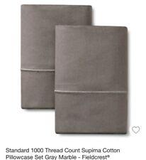 Fieldcrest 1000 Thread Count Standard Pillowcase  Gray