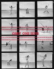 """1954 BETTIE PAGE 8x10 Photo CONTACT SHEET """"QUEEN OF PIN-UPS"""" Bikini BEACH SHOOT"""