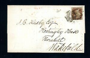 1842 Maltese Cross Cover  London to Wakefield (Double Strike of Cross)    (O433)