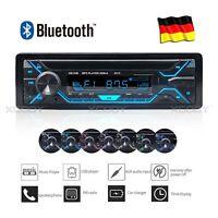 AUTORADIO BLUETOOTH STEREO MP3 PLAYER FM USB SD TF AUX RADIO 1 DIN 12V 4X60W DE