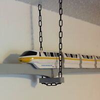 Single Track Trapeze Bracket for Suspending Disney Monorail Track from Ceiling