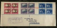1945 Johannesburg South Africa Cover Domestic Used Allied Victory Stamps