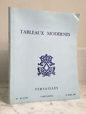 Catalogue de vente Tableaux modernes Versailles 27 mars 1977
