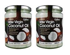 Optima Brut Huile Vierge de Noix Coco Organique 2X500ml - Naturellment 100% Pure