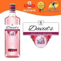 PERSONALISED PINK GIN LABEL BIRTHDAY ANY OCCASION GIFT