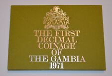 1971 The First Decimal Coinage of Gambia  Coin Set