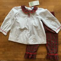 NEW Orient Expressed Smocked Christmas Plaid Holiday Girls Set Size 4 Outfit