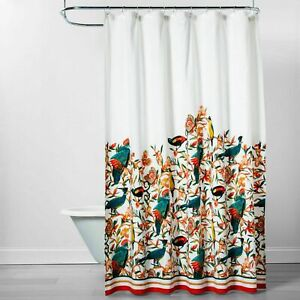 Opalhouse Flora Birds  Multi color Shower Curtain