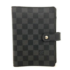 Louis Vuitton Damier Graphite Agenda MM Notebook Cover /71268