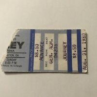 Journey Hara Arena Dayton Ohio Concert Ticket Stub Vintage August 31 1980