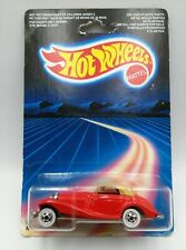 Hot Wheels 1986 Red Mercedes 540K Tan Top BNIP 3911