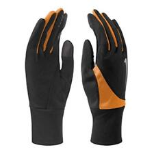 NWT NIKE Womens DRI-FIT TAILWIND RUN GLOVES Tech Finger BLACK ORANGE 82621  S, M