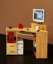 Eck Schreibtisch Kernbuche Eckschreibtisch Ecklösung Tisch Computertisch PC Büro
