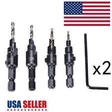 2set Wood Woodworking 5 Flute HSS Countersink Drill Bit Set Carpentry Tool 6-12#