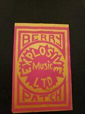 Rare 1967 Handbill Berry Patch Grande Ballroom