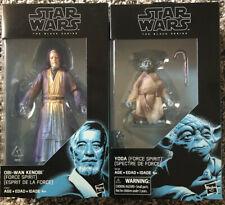 Star Wars Black Series Exclusives Obi Wan Kenobi And Yoda Force Spirit