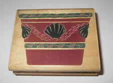 Terra Cotta Potta Rubber Stamp Flower Pot Seashells Planter Plants Retired