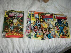 marvel set of 5 micronauts 1 thur 5 complete fine books1970s rare originals