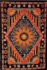 ModTradIndia Celestial Sun Moon Stars Planet Tapestry, Indian Hippie Wall