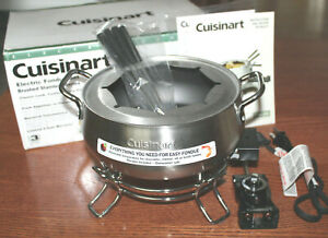Cuisinart Electric Fondue Pot CFO-3SS ~ 3 Qt. Nonstick Brushed Stainless Bowl