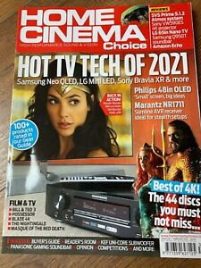 Home Cinema Choice February 2021 Hi-Fi Amps TVs Etc Magazine