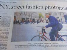 BILL CUNNINGHAM OBITUARY NEW YORK STREET FASHION PHOTOGRAPHER LA TIMES DIED 2016