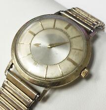 Longines AMMIRAGLIO 1200 10K oro riempito MISTERO Quadrante Orologio vintage meccanico swiss
