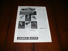 1967 SHELBY FORD GT40 COBRA KITS PERFORMANCE PARTS  ***ORIGINAL VINTAGE AD***