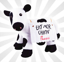 """Chick-fil-A Plush Cow Doll Toy Eat Mor Chikin 4"""" Tall Limited Edition"""