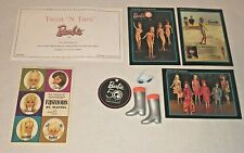 Vintage Barbie Repro Mod Zokko boots, sunglasses,booklet, cards, Coa Mint