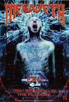 Megadeth Poster w/ Endo 2001 Concert