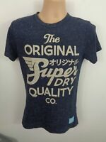 MENS SUPERDRY T-SHIRT NAVY BLUE SHORT SLEEVED CREW NECK SHIRT SIZE S SMALL