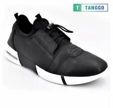 Tanggo Fashion Sneakers Men's Formal Leather Shoes H323 (black) - Size 42