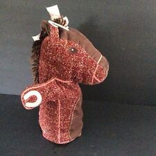 Vintage Baby Gap Brown Corduroy Horse Hand Puppet Excellent See Photos Retired