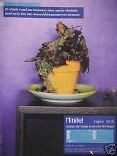 PUBLICITÉ 1999 MINITEL 3615 LE SERVICE E-MAIL INTERNET - ADVERTISING