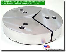 10 Full Grip Round Jaws Aluminum For B210 Lathe Chuck 2 Ht 10 Pie Diameter