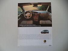 advertising Pubblicità 1998 CHRYSLER VOYAGER