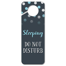 Sleeping Do Not Disturb Plastic Door Knob Hanger Sign