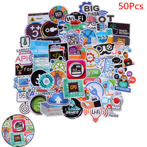 50 PCS Programming Language Stickers Internet Software Waterproof Sticker SP