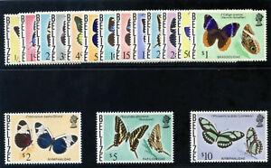 British Honduras 1974 QEII Butterflies set complete MNH. SG 380-395. Sc 345-360.