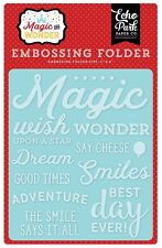 """ECHO PARK """"MAGIC AND WONDER"""" EMBOSSING FOLDER-WISH UPON A STAR SCRAPJACK'S PLACE"""