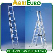 Scala in alluminio mt 11,9 telescopica Svelt Euro 3 pezzi 16 gradini allungabile