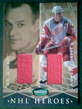 GORDIE HOWE / STEVE YZERMAN AUTHENTIC PIECES OF DUAL GAME-USED MEMORABILIA/40