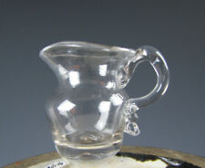 Antique American Miniature Free Blown Glass Pitcher 19th Century