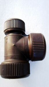 10 qty Hepworth Type Hep2O type 22 x 15mm reduced Tee Brown Push fit fittings