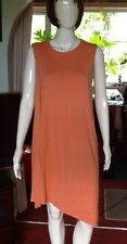 Fully Lined Asymmetrical Hem Apricot Dress From Cos Medium Size.