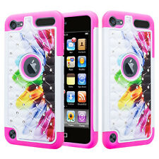 iPod Touch 6th 5th Generation Studded Bling Rhinestone Diamond Phone Case Cover