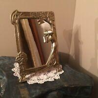Art Nouveau era  Lady Of The Lake Dressing Brass Table Mirror