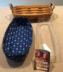 Longaberger 1997 Heartland Collection Muffin Basket Combo Blue Weave Excellent!!