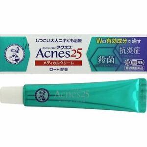 ROHTO Mentholatum Acnes 25  Anti Acne Face Cream 16g from JAPAN